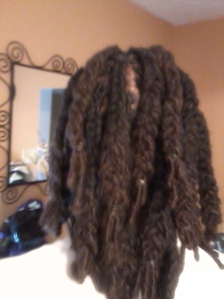 2 year old Loc Extensions with braid style